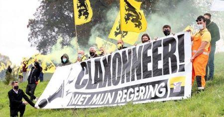 Belçika'da aşırı sağcılardan 'Vivaldi' protestosu