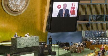 Cumhurbaşkanı Erdoğan'ın İsrail eleştirileri, BM'de salonu terk ettirdi