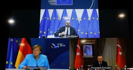Cumhurbaşkanı Erdoğan, Michel ve Merkel ile görüştü