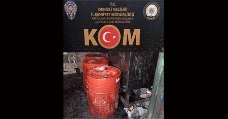Denizli'de 3 bin litre kaçak akaryakıt yakalandı