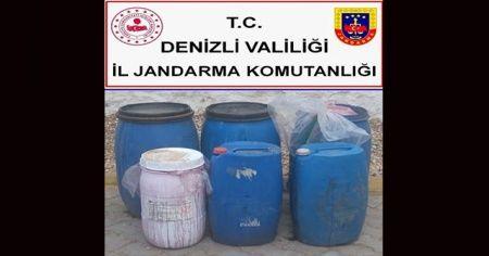 Denizli'de bin 300 litre kaçak içki ele geçirildi
