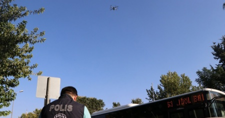 Drone tespit etti, polis cezayı kesti
