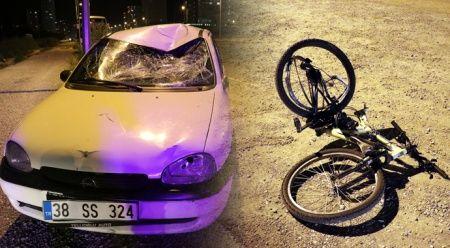 Ehliyetsiz sürücünün çarptığı bisikletli ağır yaralandı