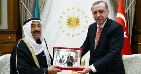Erdoğan'dan Kuveyt Emiri Sabah el-Ahmed el-Cabir es-Sabah için taziye mesajı