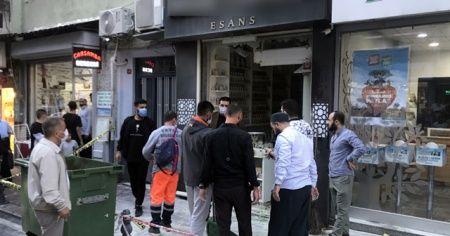 Fatih'te parfüm satışı yapan iş yerinde patlama