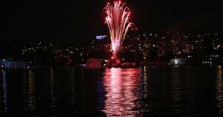 Haliç'te Preveze Deniz Zaferi için hologram gösterisi düzenledi