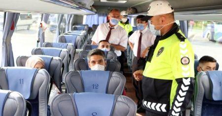 HES'i yok sayan 6 otobüs trafikten men edildi
