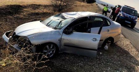 Kırıkkale'de otomobil şarampole devrildi: 4 yaralı