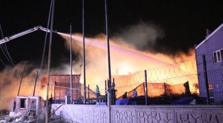 Kocaeli'deki fabrika yangını 2 saate kontrol altına alındı