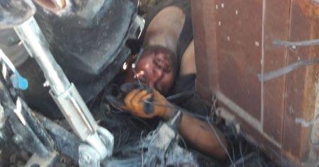 Kullandığı traktörün altında kalarak ağır yaralandı
