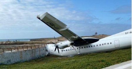 Mogadişu'da kargo uçağı pistten çıktı: 3 yaralı