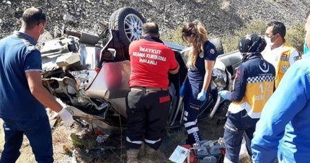 Sivas'ta trafik kazası 1 ölü 2 karalı