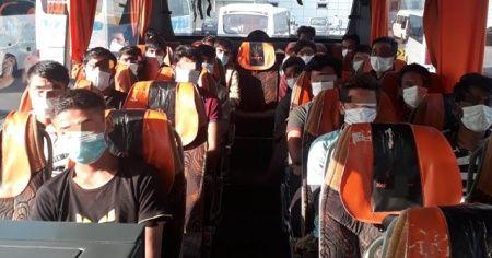 TEM Otoyolunda otobüs içerisinde 21 düzensiz göçmen yakalandı