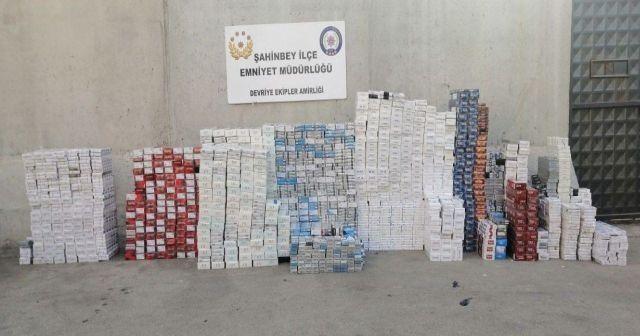 12 bin 960 paket kaçak sigara ele geçirildi