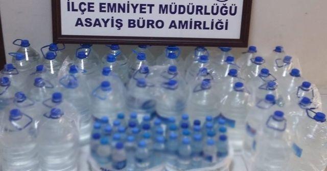 Adana'da 259 litre sahte içki ele geçirildi