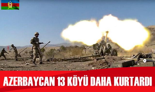 Azerbaycan ordusu 13 köyü Ermenistan işgalinden kurtardı