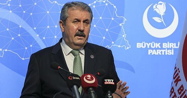 BBP Genel Başkanı Destici, Cumhurbaşkanı Erdoğan'ı arayarak destek verdi