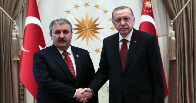 Cumhurbaşkanı Erdoğan, Mustafa Destici'yi telefonla arayarak tebrik etti