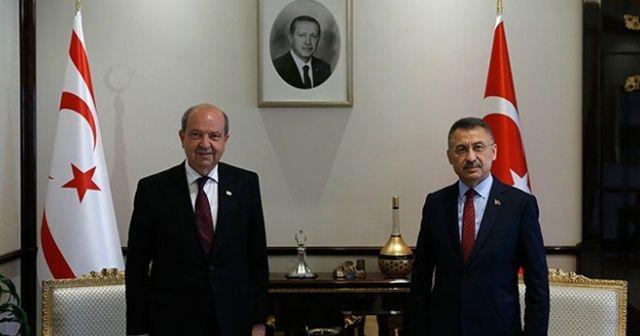 Cumhurbaşkanı Yardımcısı Oktay, KKTC Cumhurbaşkanı seçilen Ersin Tatar ile telefonda görüştü