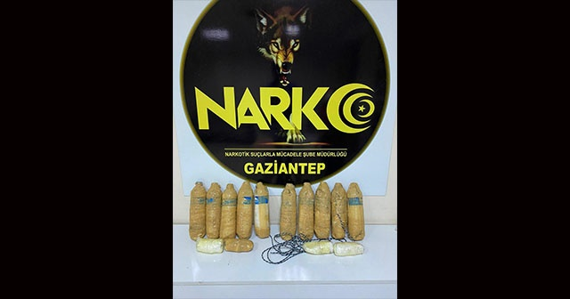 Gaziantep(te 9 kilogram uyuşturucu ele geçirdi