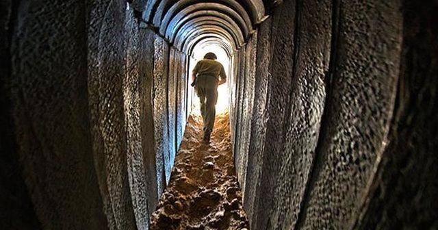 Gazze'den İsrail tarafına uzanan bir tünel bulundu
