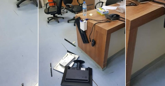 Hastaneye gelen genç kız, doktora kızıp masasını dağıttı