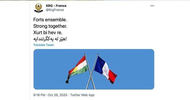 IKBY Fransa Temsilciliği tepkiler üzerine Fransa'ya destek mesajını sildi