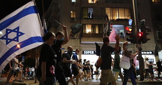İsrail'de kısıtlamalar kaldırılınca Netanyahu karşıtları sokaklara döküldü