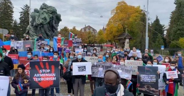 İsviçre'de Ermenistan protesto edildi