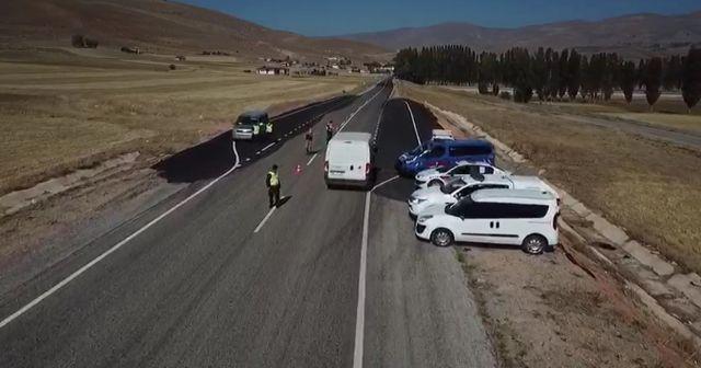 Jandarma ekiplerinden droneli denetim