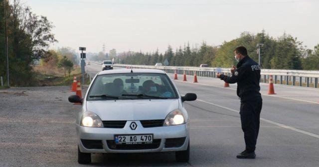 Karantinayı ihlal etti, trafik uygulamasında yakalandı
