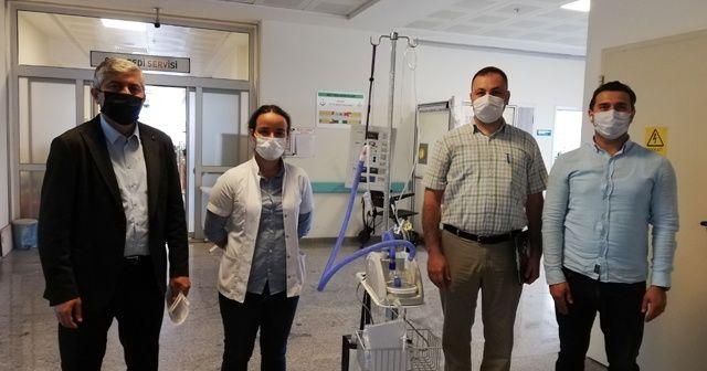 Korona virüs tedavisinde kullanılacak cihaz Boyabat Hastanesine teslim edildi