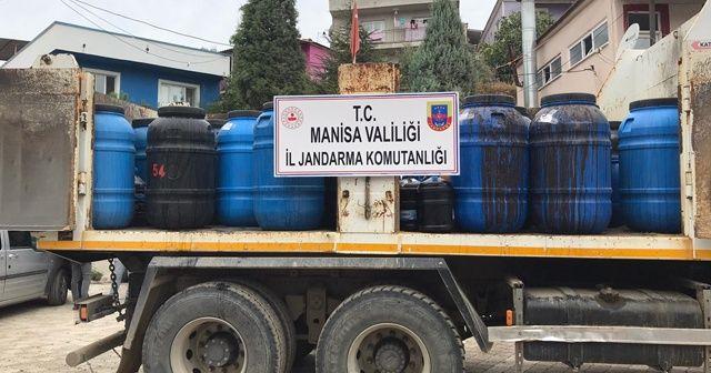 Manisa'da sahte içki operasyonu: 20 ton şarap ele geçirildi