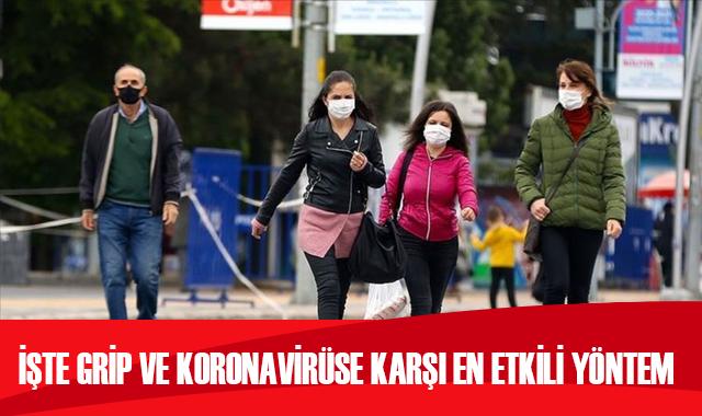Mevsimsel grip ve koronavirüse karşı en etkili mücadele yöntemi: Maske