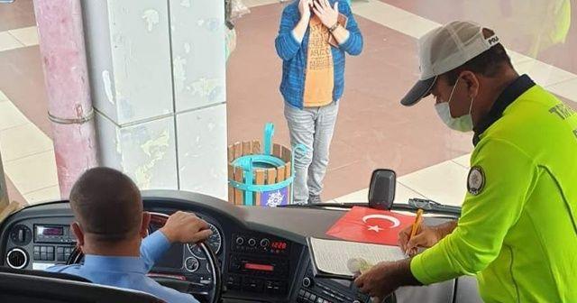 Otobüs şoförleri temaslı çıktı