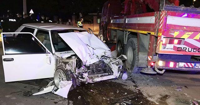 Polisten kaçarken kaza yapan sürücü hayatını kaybetti
