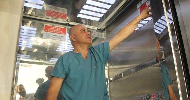 Sağlık çalışanı asansörü 5 saniyede dezenfekte eden sistem geliştirdi