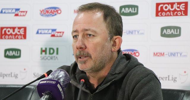 Sergen Yalçın'dan maç sonu açıklamalar