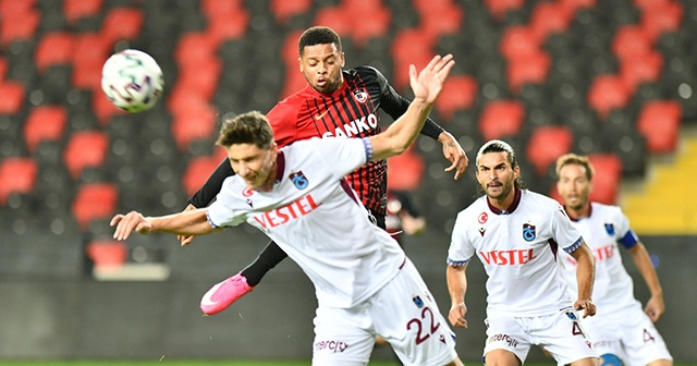 Trabzonspor deplasmanda Gaziantep FK ile 1-1 berabere kaldı