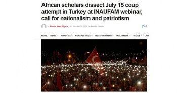 '15 Temmuz Darbe Girişimi' Afrika basınında