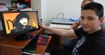 13 yaşında, tarihi Türk dizilerini çizgi filme dönüştürüyor