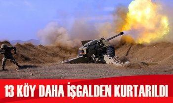 Azerbaycan ordusu, 13 köyü daha işgalden kurtardı