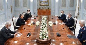 Bakan Akar, Özbekistan Cumhurbaşkanı ile görüştü