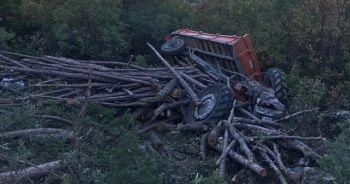 Dursunbey'de traktör kazası: 1 ölü, 3 yaralı