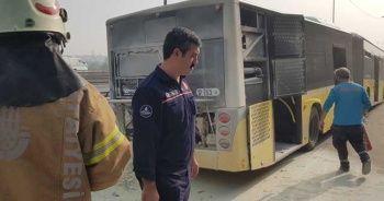 E-5'te korkutan yangın