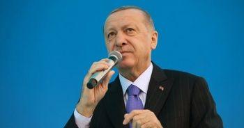 Erdoğan: Yıkılan evlerin yerine yenilerini yapacağız