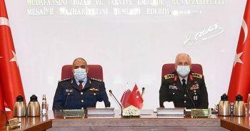Genelkurmay Başkanı Orgeneral Güler, Katar Genelkurmay Başkanı ile araya geldi