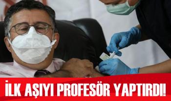 İlk aşı profesör Mustafa Necmettin Ünal'a yapıldı