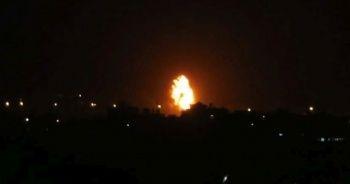 İsrail savaş uçakları Gazze şeridi'ni vurdu
