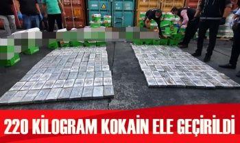 Mersin Uluslararası Limanı'nda 220 kilogram kokain ele geçirildi